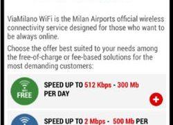 ミラノ マルペンサ空港 無料Wi-Fi接続方法