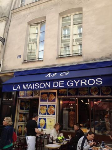 パリ・LA MAISON DE GYROSのケバブ