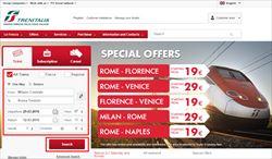 イタリア国鉄サイト 鉄道チケット インターネット購入方法