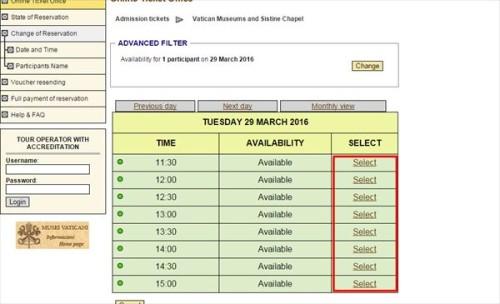 ヴァチカン美術館 公式サイト チケット予約方法