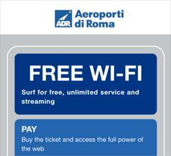 ローマ フィウミチーノ空港 無料Wi-Fi接続方法