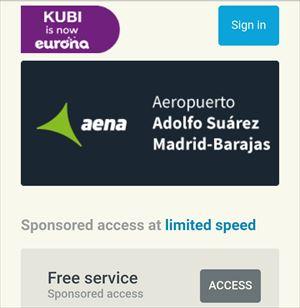 マドリッド バラハス空港 無料Wi-Fi接続方法