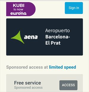 バルセロナ エル・プラット空港 無料Wi-Fi接続方法