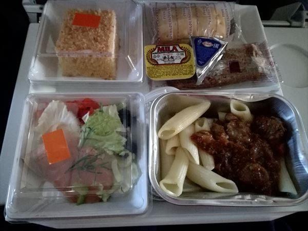 モスクワ~マドリードの機内食