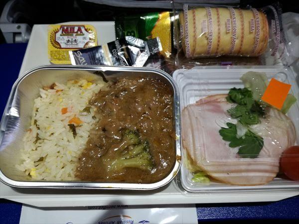 バルセロナ~モスクワの機内食