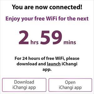 シンガポール チャンギ国際空港 無料Wi-Fi接続方法