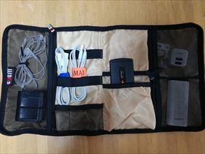 海外旅行に最適! BUBM折り畳み式・充電ケーブル収納ケース