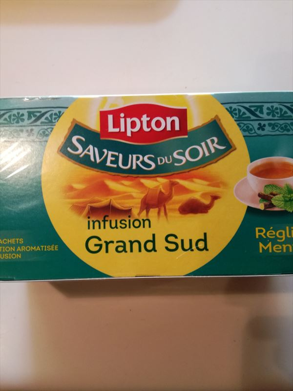 リプトンのフランス限定ミントティー Lipton Infusion Grand Sudが美味い
