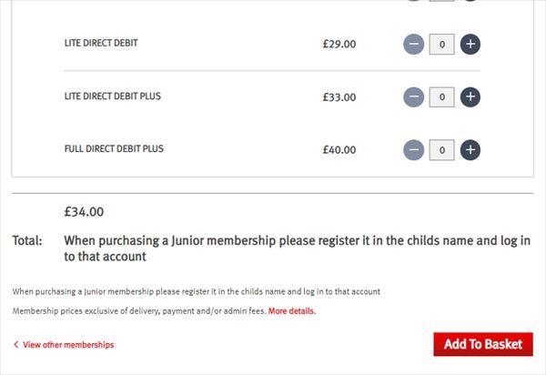 Select a membership