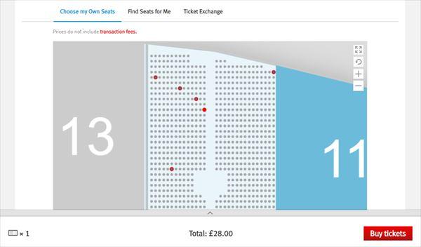 チケット選択画面