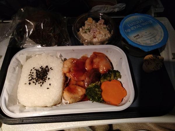 ブリティッシュ・エアウェイズ機内食・チキン