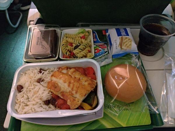 エチオピア航空・機内食(フィッシュ)